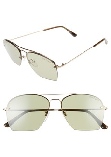 Tom Ford Whelan 58mm Aviator Sunglasses