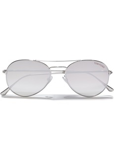 Tom Ford Woman Aviator-style Gold-tone Sunglasses Pastel Pink