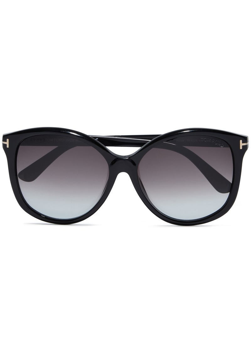 Tom Ford Woman Alicia D-frame Acetate Sunglasses Black