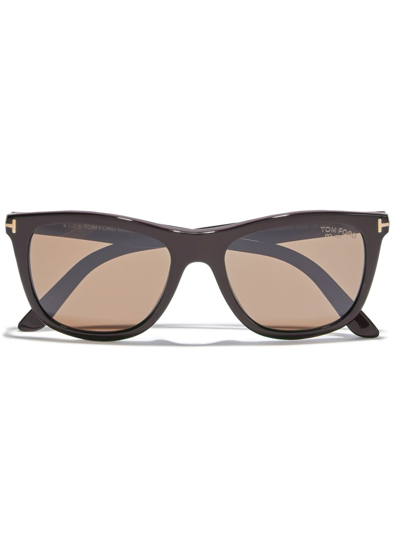 Tom Ford Woman Andrew Square-frame Acetate Sunglasses Dark Brown