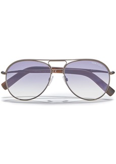 Tom Ford Woman Aviator-style Gunmetal-tone Sunglasses Purple