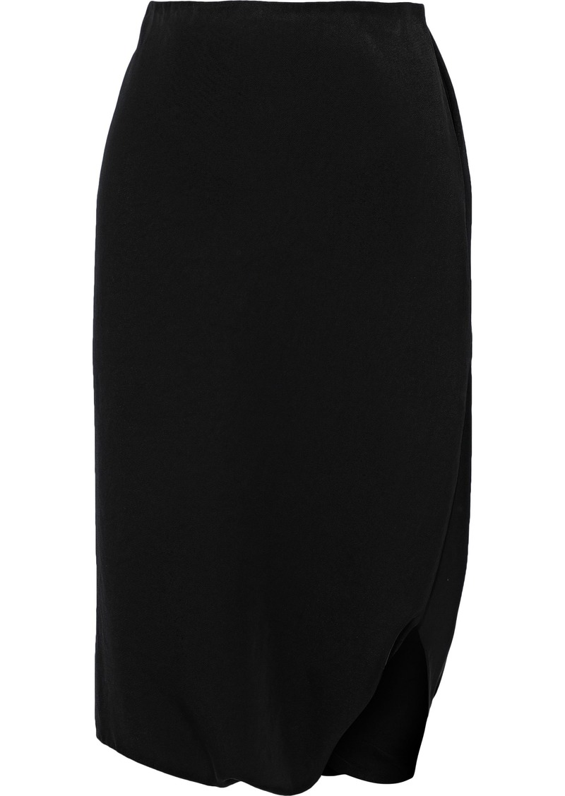 Tom Ford Woman Cropped Skirt-effect Twill Harem Pants Black