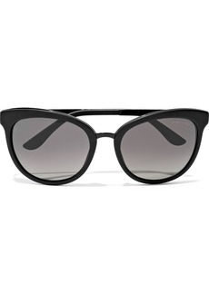 Tom Ford Woman Emma D-frame Acetate Sunglasses Black