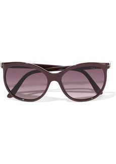Tom Ford Woman Geraldine D-frame Acetate Sunglasses Grape