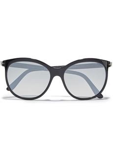 Tom Ford Woman Geraldine Round-frame Tortoiseshell Acetate Sunglasses Black