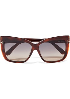 Tom Ford Woman Irina Square-frame Acetate Sunglasses Brown