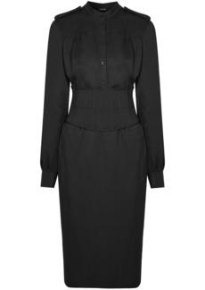 Tom Ford Woman Twill Shirt Dress Black