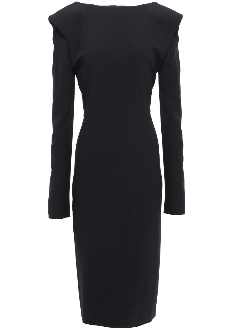 Tom Ford Woman Open-back Cady Dress Black