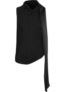 Tom Ford Woman Open-back Draped Knotted Silk Top Black