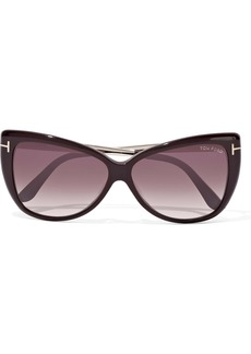 87299816a4a6 Tom Ford Woman Reveka Butterfly-frame Gold-tone And Acetate Sunglasses Grape