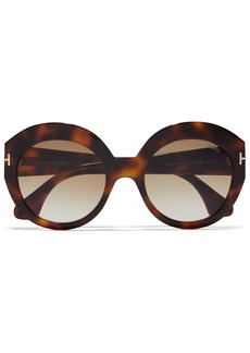 Tom Ford Woman Round-frame Tortoiseshell Acetate Sunglasses Light Brown