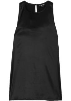 Tom Ford Woman Silk-blend Satin Top Black