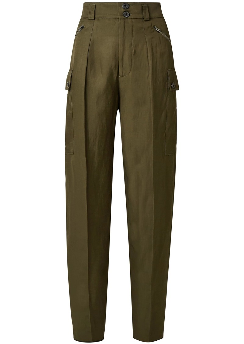 Tom Ford Woman Twill Tapered Pants Army Green