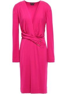 Tom Ford Woman Wrap-effect Jersey Dress Fuchsia