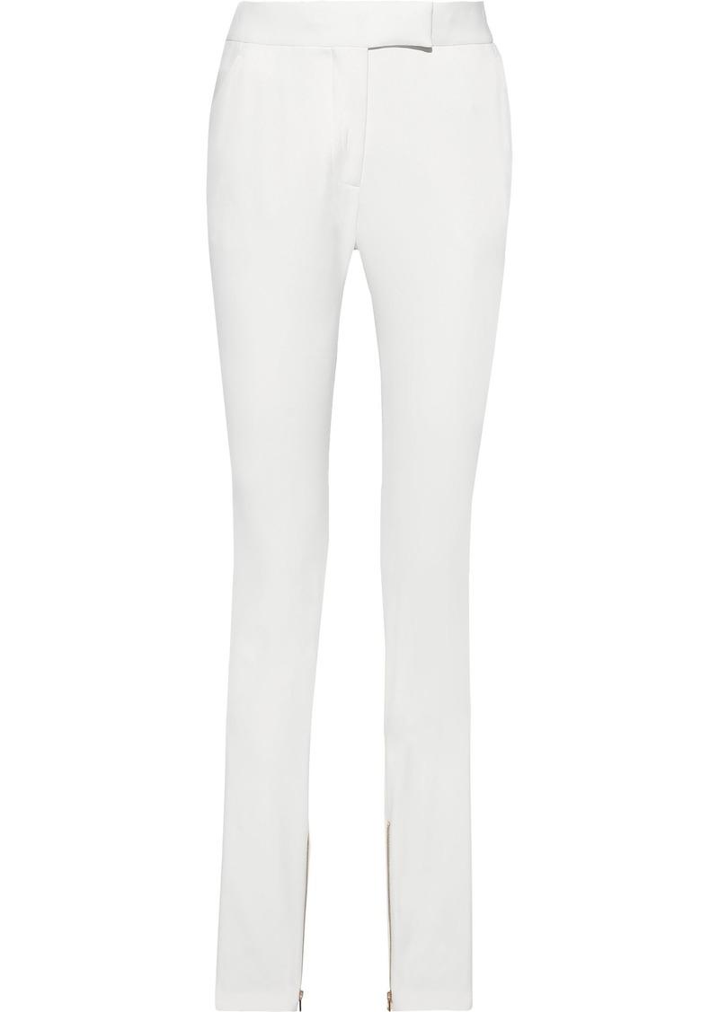 Tom Ford Woman Zip-detailed Cady Slim-leg Pants White