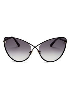 Tom Ford Women's Leila Cat Eye Sunglasses, 63mm
