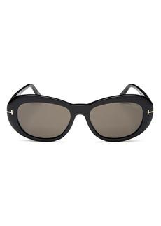Tom Ford Women?s Elodie Round Sunglasses, 54mm