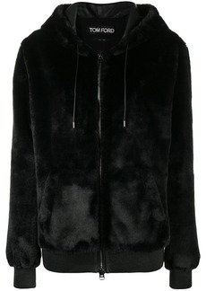 Tom Ford zipped shearling hoodie