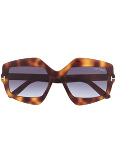 Tom Ford tortoiseshell geometric frame sunglasses