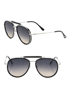 Tom Ford Tripp 58MM Aviator Sunglasses