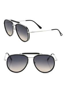 Tom Ford Tripp 58MM Aviator Sunglasses
