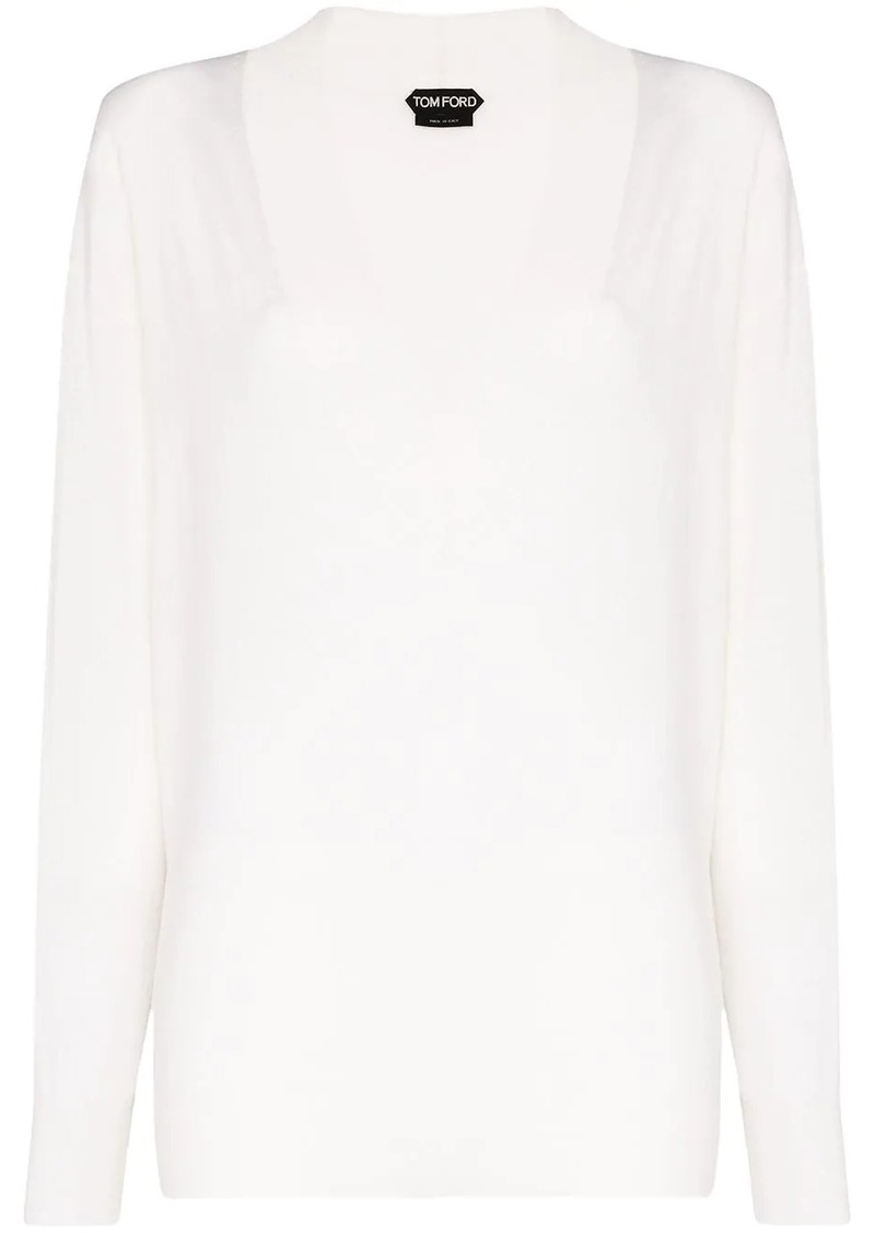 Tom Ford V-neck long-sleeved sweater