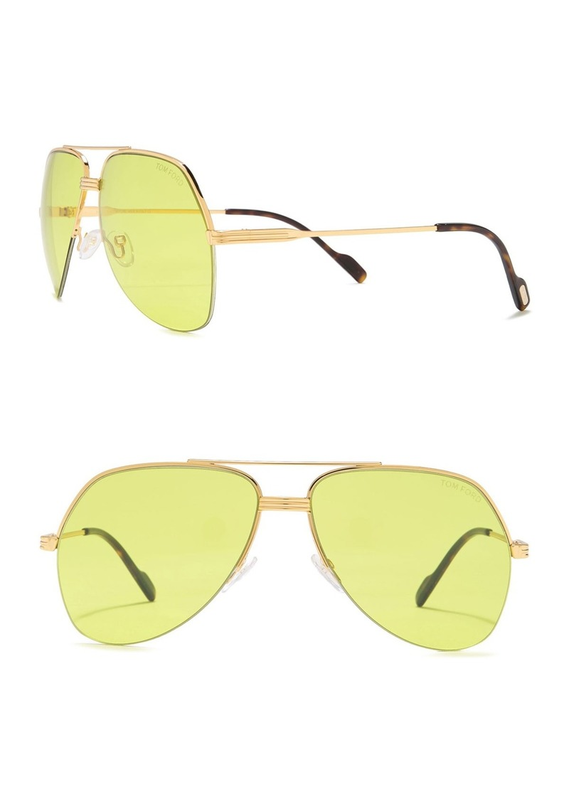 Tom Ford Wilder 62mm Oversized Aviator Sunglasses