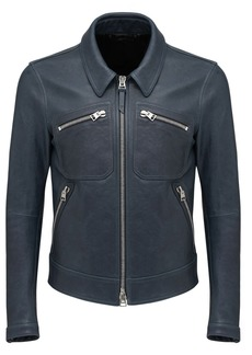 Tom Ford Worked Leather Shirt Jacket