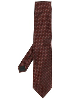 Tom Ford woven effect check print tie