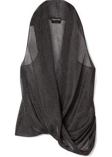 Tom Ford Wrap-effect Draped Lurex Top