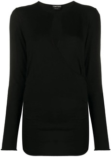 Tom Ford wrap style knitted top