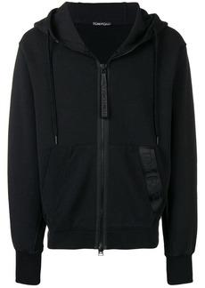 Tom Ford zipped logo hoodie