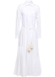 Tome Woman Belted Cotton-poplin Midi Shirt Dress White