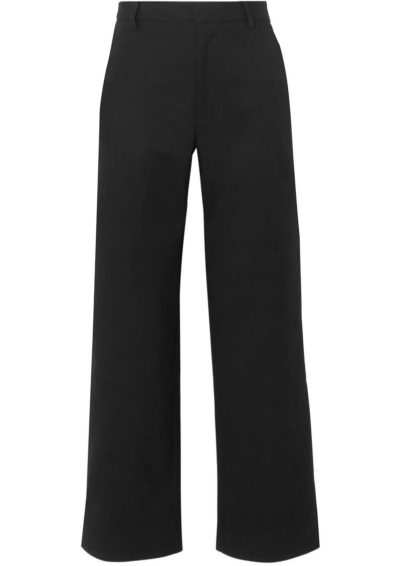 Tome Woman Cotton-blend Faille Wide-leg Pants Black