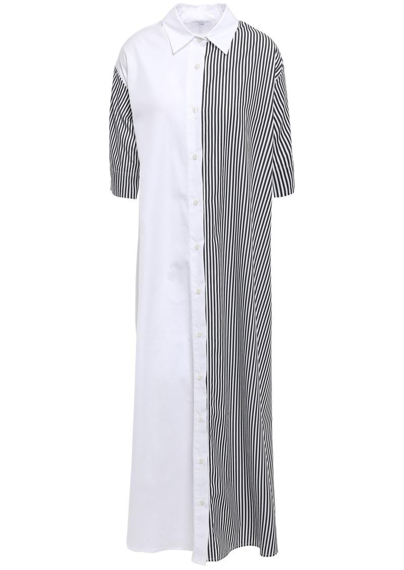 Tome Woman Striped Cotton-poplin Maxi Shirt Dress White