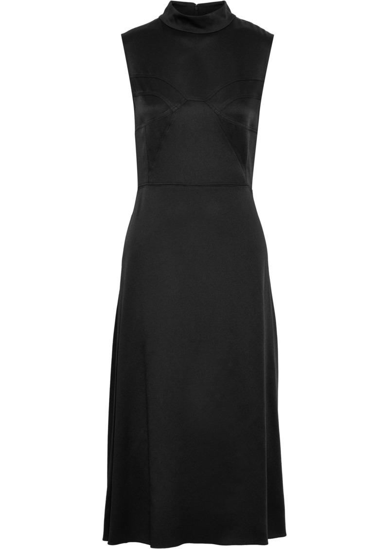 Tome Woman Crepe De Chine Midi Dress Black