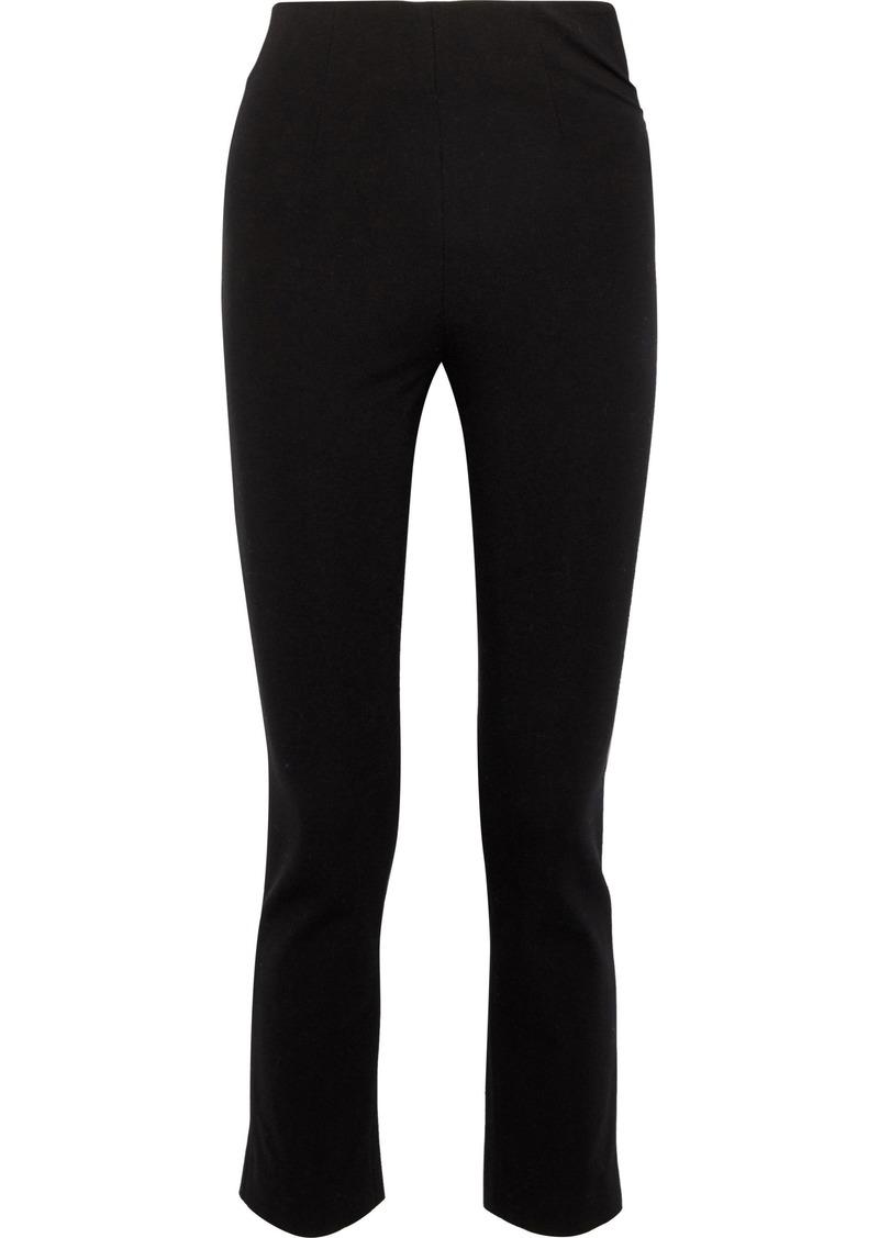 Tome Woman Cropped Stretch-knit Skinny Pants Black