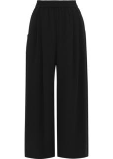 Tome Woman Pleated Crepe Wide-leg Pants Charcoal