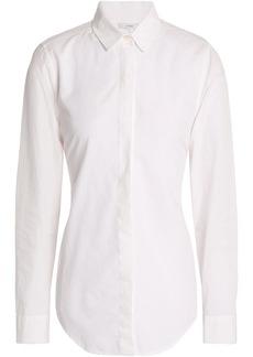 Tome Woman Open-back Draped Cotton-poplin Shirt White