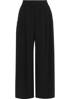Tome Woman Gathered Crepe Wide-leg Pants Charcoal