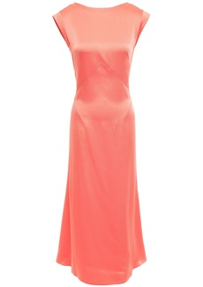 Tome Woman Satin-crepe Midi Dress Coral