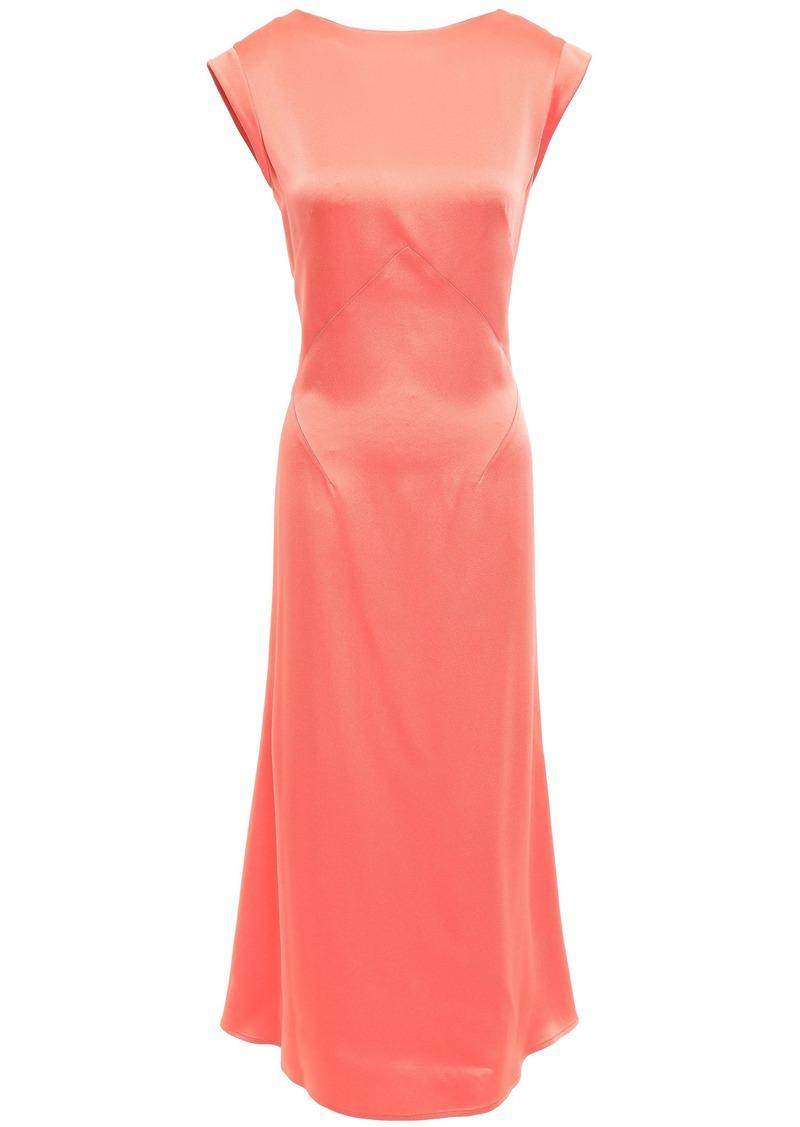 Tome Woman Satin-crepe Midi Dress Coral