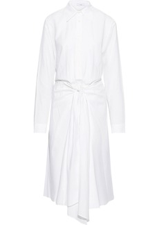 Tome Woman Tie-front Cotton-poplin Midi Shirt Dress White