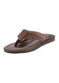 Tommy Bahama Anchors Astern Leather Flat Thong Sandal