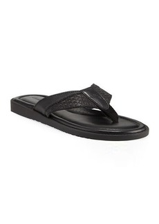 Tommy Bahama Anchors Astern Leather Flat Thong Sandals