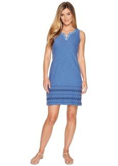 Tommy Bahama Arden Embroidered Sleeveless Short Dress