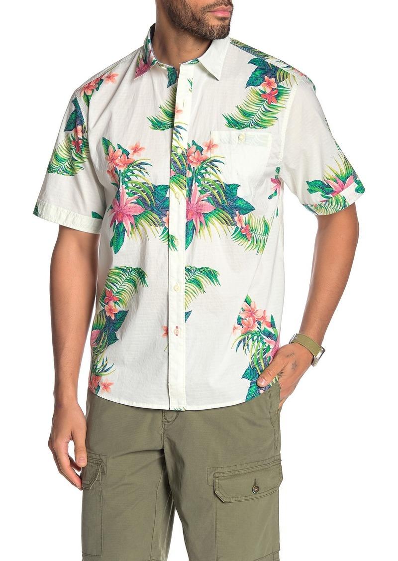 Tommy Bahama Avenza Blooms Short Sleeve Tropical Floral Print Hawaiian Shirt