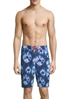 Tommy Bahama Baja Deep Sea Printed Swim Shorts