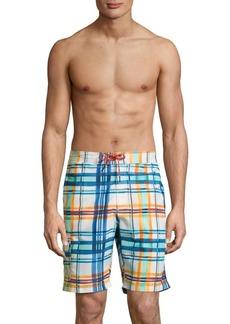 Tommy Bahama Baja Plaid Swim Trunks