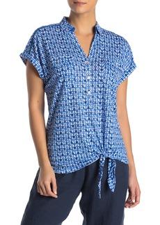 Tommy Bahama Batik Tile Linen Tie Knit Shirt